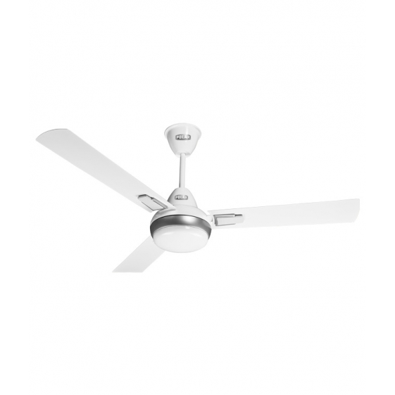 "POLAR (1200mm) Vindura 3 Blade Ceiling Fan ""White-Silver"""